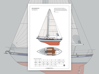 To Sharing the Seas family data sheet spec print technical poster sail boat sailboat