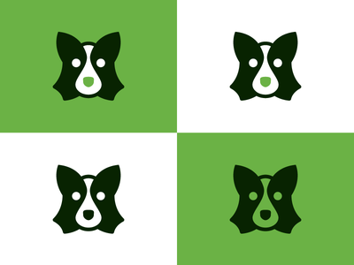 Unused Doggo icon green glyph logo mark dog