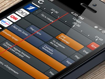 TV schedule iphone ios tv schedule