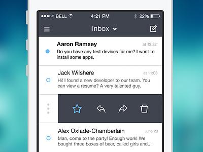 Mail app mail iphone ios app