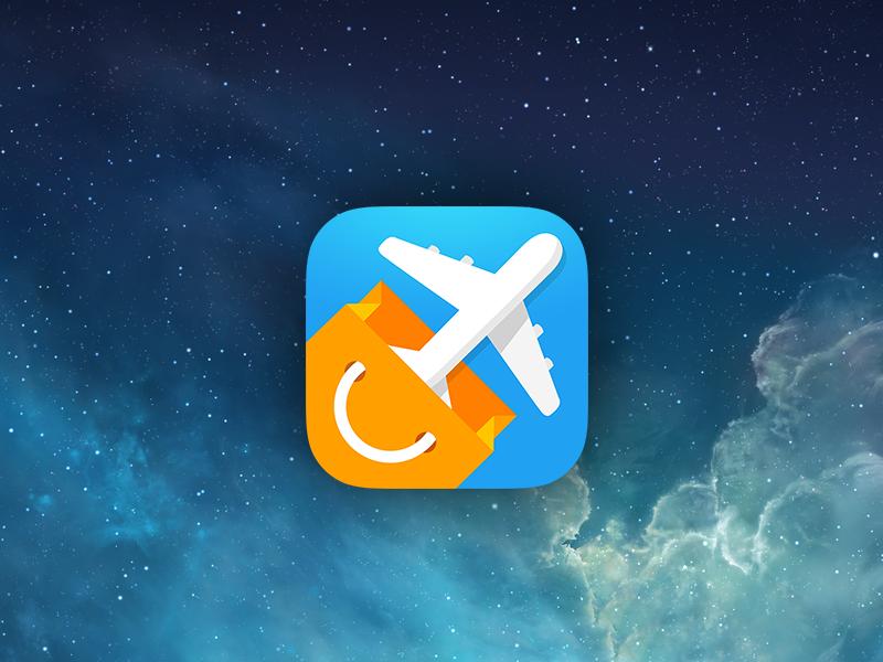 iOs icon ios icon plane space shopping