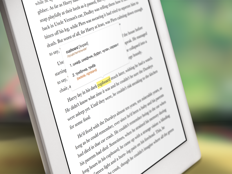 Ebook reader with built-in translator by Ilya Omelyanchuk | Dribbble