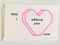 May I Admire You?