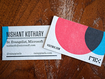 MIX Online Business Card card businesscard letterpress