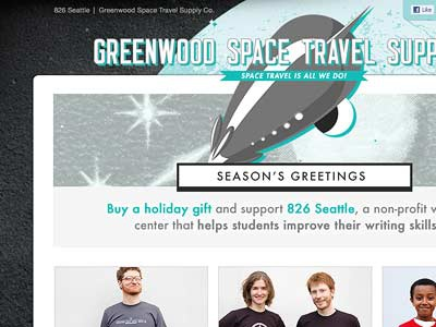 826 Space Holiday holiday microsite e-commerce pro bono