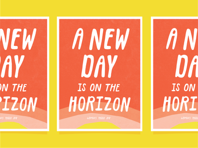 A New Day poster art poster design hope election 2020 rise up lettering sun rise poster design vector illustration