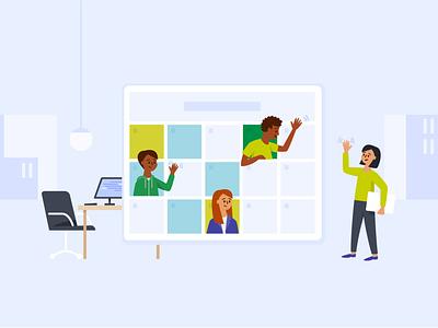 Envoy scheduling branding blog design vector illustration