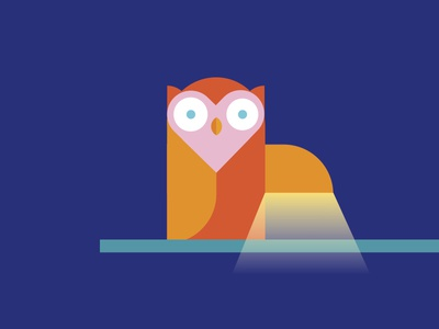 Night Owl heart night light night night owl owl