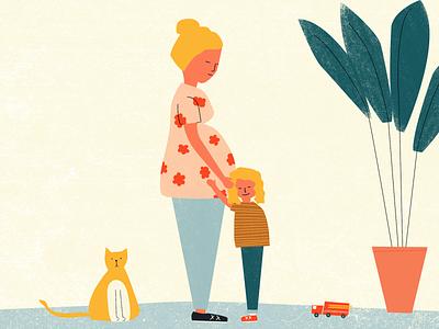 Baby No. 2 plant truck childrens baby design illustration