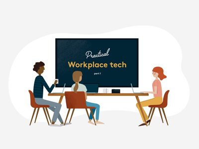 Workplace Tech Illo technology blog vector office meeting workplace