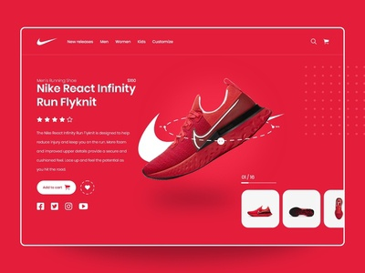 Daily UI Design : Nike Shoes Store