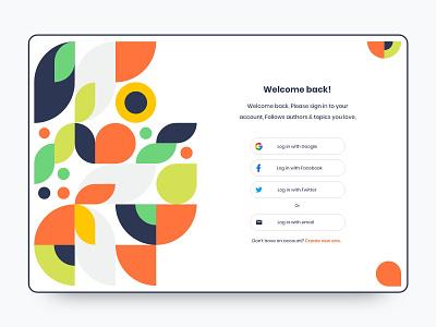 Login panel UI Design uiux ui-design uidesign colorful adobe-xd clean web-design minimalist design interface user ui login design login screen login form login page