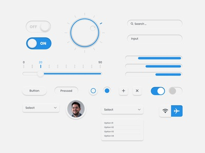 Skeumorphic UI/UX Elements