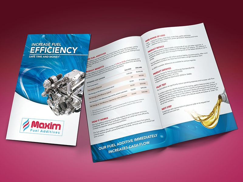 Bifold Brochure fuel additives fuel brochure bifold print design