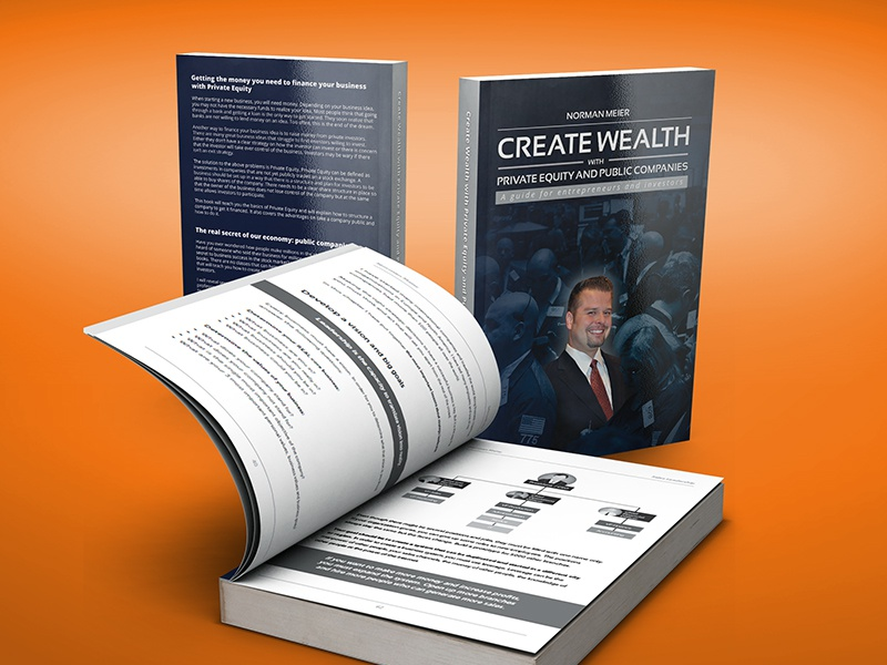 """Create Wealth"" Book ebook editorial design editorial book cover cover book"