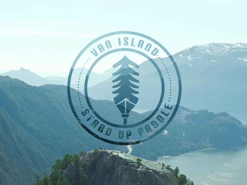 VIS Logo design logo vancouver island sup stand up paddleboard paddle paddleboard westcoast vector badge