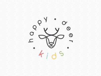 Happy Deer Kids Logo