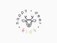 Happy Deer Kids Logo