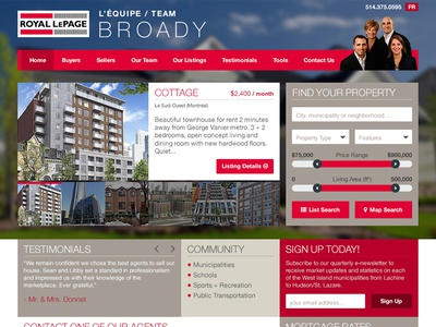 Website Mockup - Real Estate Agents real estate agents royal lepage property housing website mockup