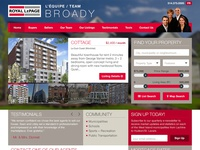 Website Mockup - Real Estate Agents