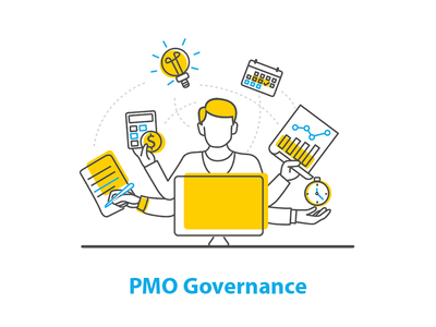 PMO Governance icon document icon yellow busy office management project governance pmo