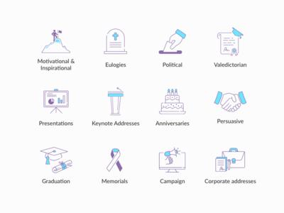 Speech Type Icons