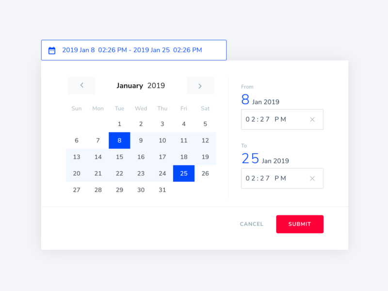 DateTimePicker by Anna Huang on Dribbble