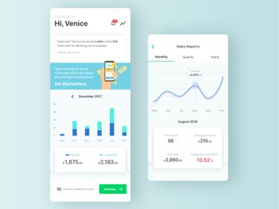 Invoice Genius App Dashboard