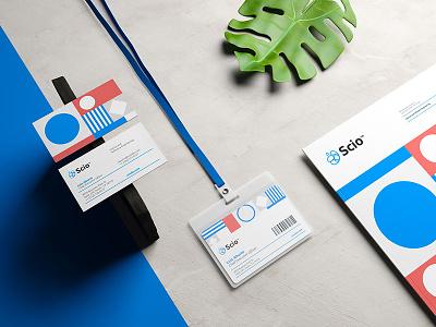 Scio Stationary branding design stationary mexico logo brand identity developer dev code programming pattern