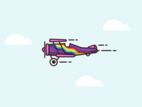 "Biplane ""Rainbow"""