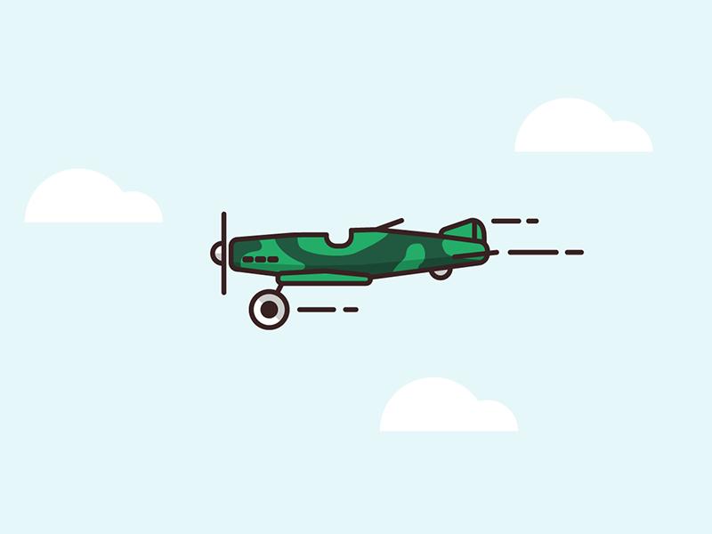 War plane disguise plane flight sky linework illustration mobile vector unity game
