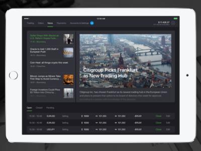 Forex4you iPad app: Economic News