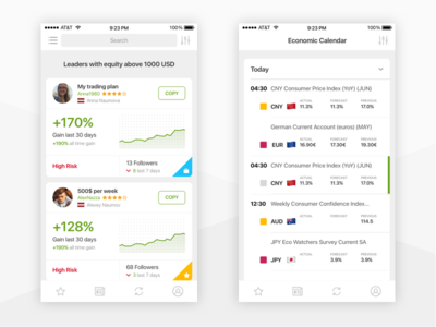 Social investment network iPhone app