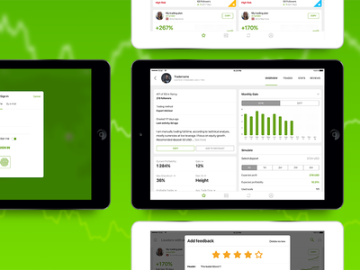 Social investment network for iPad