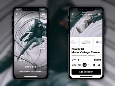 Look-based fashion store app concept