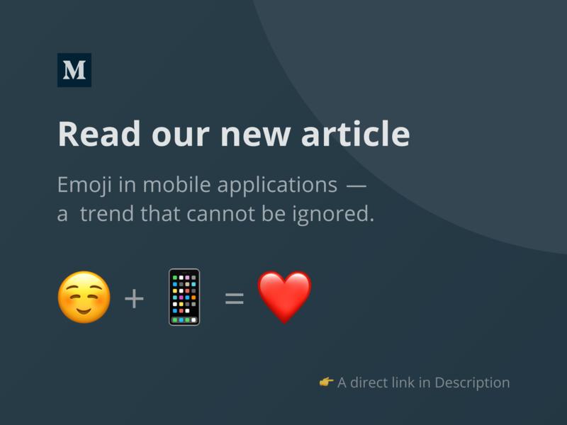 Our new article on Medium iphone android ios mobile interface ux ui emoji medium