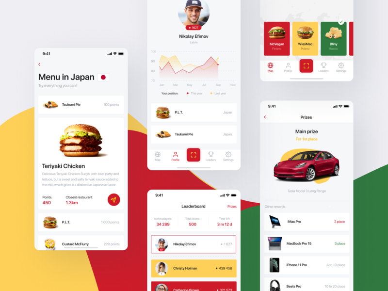 McTravel App — Taste the world! product design iphonex casestudy prize dayliui profile qr leaderboard reward japan food analytics travel mcdonalds branding mobile app ios ux ui