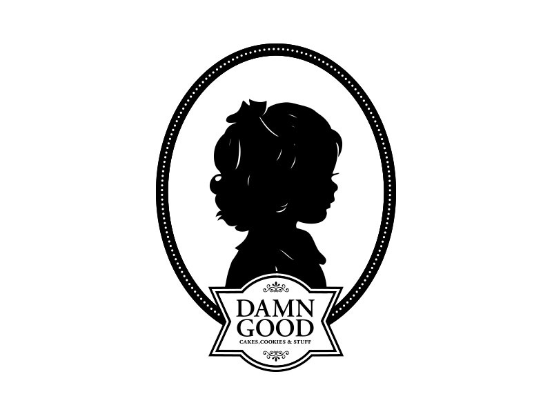 Damn Good vector bakery logo branding