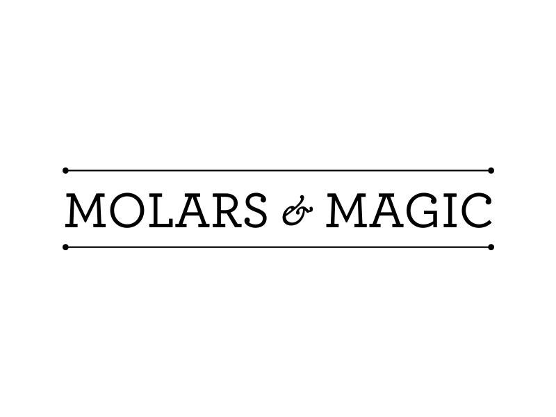 Molars & Magic vector branding tooth fairy logo