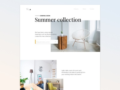 Coming soon landing page daily ui coming soon decoration deco minimalist collection furniture soon coming landing