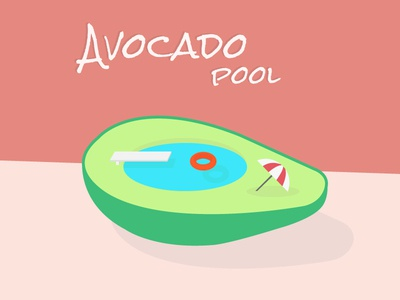 Avocado Pool chilling diving water colors summer pool avocado