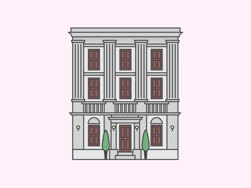 Umbrella Academy ☂️ illustration building design netflix tv show city toronto animation minimalist building blocks umbrella academy building