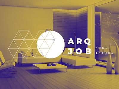 ArqJob Logo isometric brand branding architect architecture