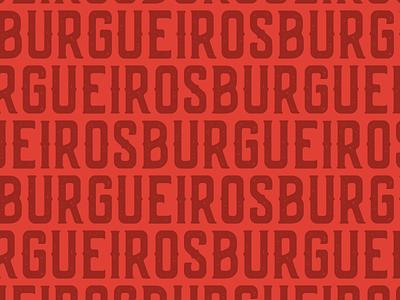 Burgueiros Pattern branding burger pattern