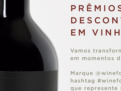Wine for Us text people flyer red wine wine