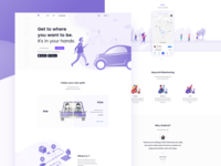 Ride Share Landing Page