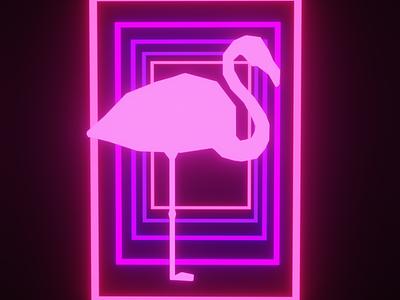 flamingo framed pink blender3d blender flamingo