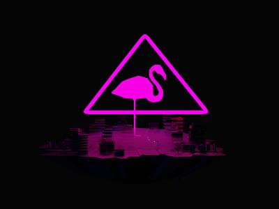 Flamingo City pink blender3d blender flamingo