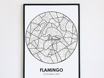 Flamingo Map photoshop procreate flamingo map