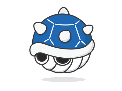 Blue Shell round mario shell blue series nintendo